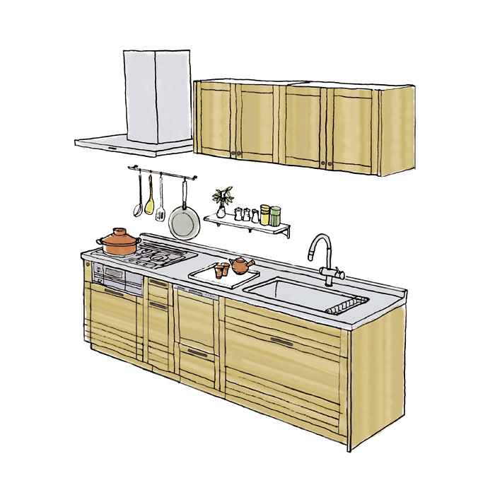 WOODONE(ウッドワン) システムキッチン su:iji(スイージー) GREEN ...